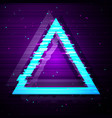 glitched triangle design vector image