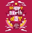 greeting card with happy birthday designed vector image