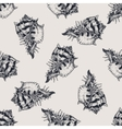 Hand drawn vintage exotic shell abstract pattern
