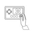 hands human with drone remote control icon vector image vector image