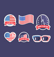 happy flag day collection vector image