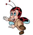 Happy Ladybug Dancing vector image vector image