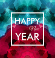 Happy New Year Card Colorful mosaic background vector image vector image