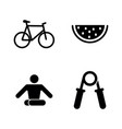 healthy lifestyle simple related icons vector image
