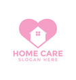home care love logo icon design template vector image vector image