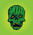 horror skull face mask mascot vector image vector image