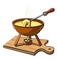 hot fondue vector image vector image