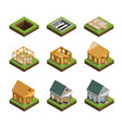 house construction icons set vector image vector image