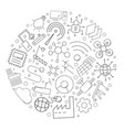 industry 40 circle background from line icon vector image vector image