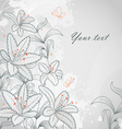 lily background vector image