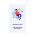 man and information document search concept vector image vector image