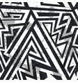 monochrome grunge seamless pattern vector image vector image