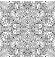 monochrome summer sketching fabric pattern vector image vector image