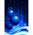 Night christmas decoration vector image