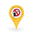 No Guns Location vector image