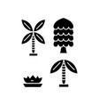palm tree black icon concept palm tree vector image vector image