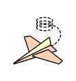 paper plane creative idea icon line dotted vector image