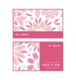 pink abstract flowers horizontal stripe frame vector image vector image