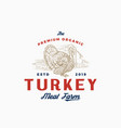 premium quality turkey farm and company abstract vector image vector image
