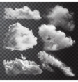 Realistic Clouds Icon Set vector image