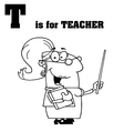 Royalty Free RF Clipart Cartoon Alphabet T vector image vector image