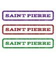 saint pierre watermark stamp vector image vector image
