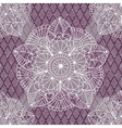 Seamless pattern with white and purple figures vector image vector image
