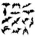 set evil bat flying for halloween card decor vector image vector image