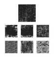 set of black grunge texture square vector image