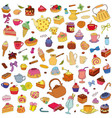 set of different sweets vector image vector image