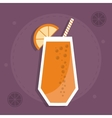 smoothie juice glass drink healthy icon vector image