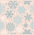 snowflake seamless pattern vintage winter vector image