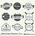 Softball champs labels vector | Price: 1 Credit (USD $1)