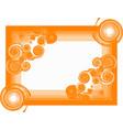 spiral frame vector image vector image