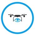 Spy Air Drone Icon vector image vector image