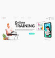 student man watching online lecture vector image