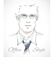 Stylish businessman portrait vector image vector image