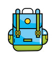 travel backpack cartoon vector image vector image