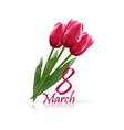 Tulips bouquet card