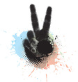 victory hand sign vector image vector image