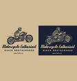vintage motorcycle club monochrome print vector image vector image