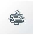 website optimization icon line symbol premium vector image