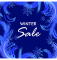 winter sale banner with frosty pattern vector image vector image