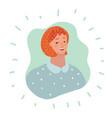 woman user icon - person profile avatar vector image