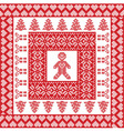Xmas tile with gingerbread man vector image vector image