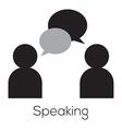 Speaking Icon vector image