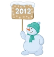 snowmens boy with sign vector image