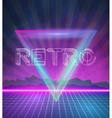 1980 Neon Poster Retro Disco 80s Background made vector image vector image