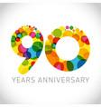 90 years anniversary circle colorful logo