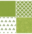 abstract green natural texture set of four vector image